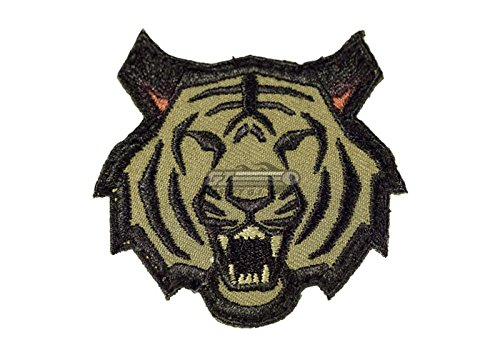 Extreme Sports Appliques (Tiger Head Morale Patch (Woodland (Forest)))
