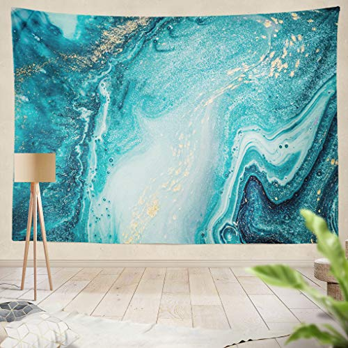 Summor Tapestry Abstract Ocean Art Natural Swirls Marble Ripples Agate Hanging Tapestries 60 x 80 inch Wall Hanging Decor for Bedroom Livingroom Dorm