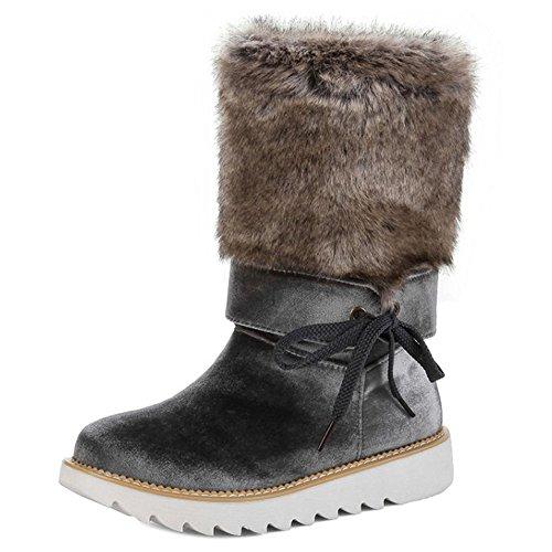On Gray Women's Boots TAOFFEN Pull xt4qw8