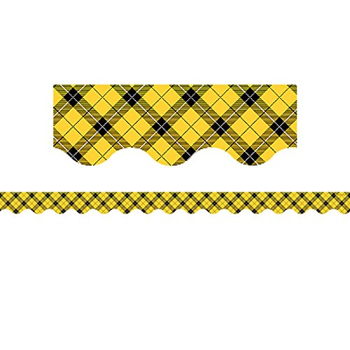 - Teacher Created Resources Yellow Plaid Scalloped Border Trim (5662)