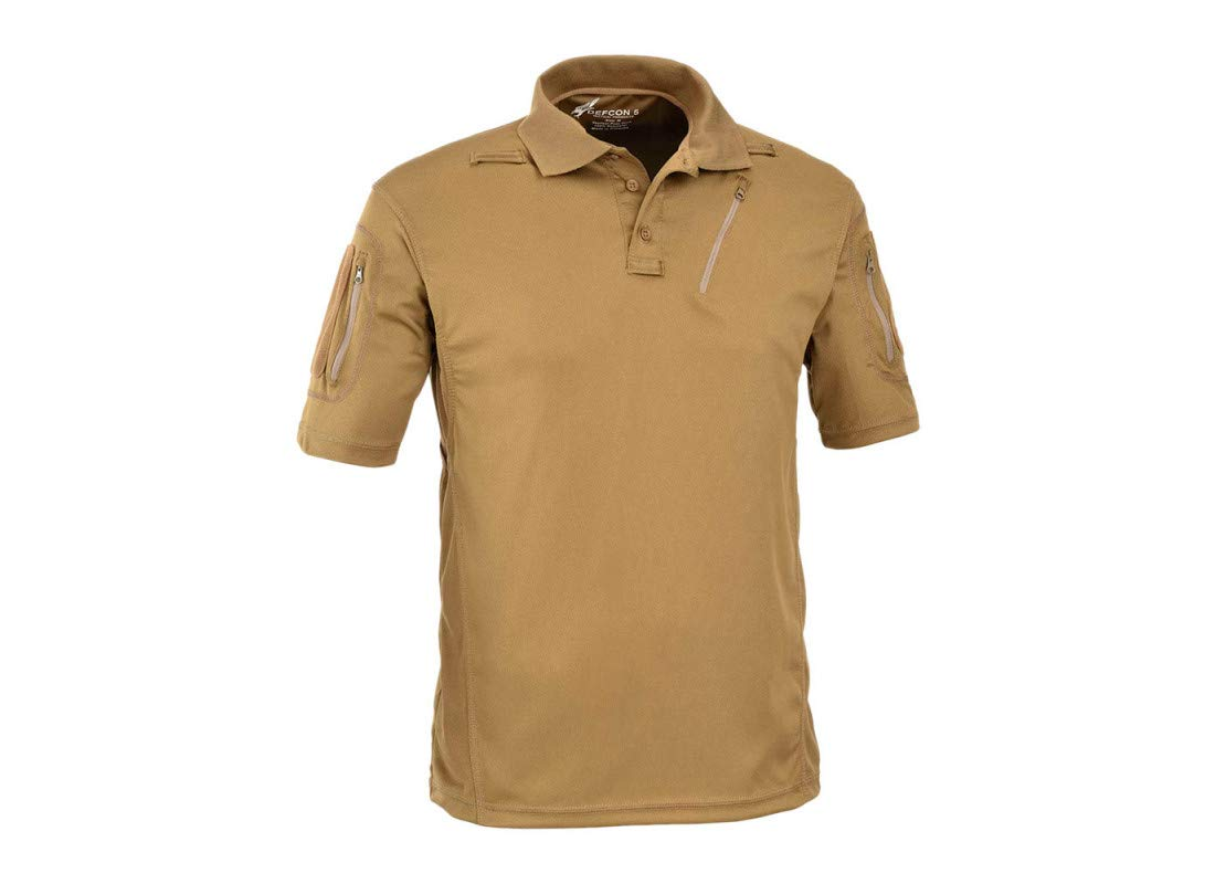 DEFCON 5 - D5-1726 Advanced Tactical Polo Short Sleeves Coyote Tan ...