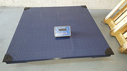 5,000 LBS x 1 LB Optima Scale (NTEP LEGAL FOR TRADE) OP-916-4x4 All Stainless Steel Floor Scale, Pallet Scale, Platform Scale, Industrial Scale, 4