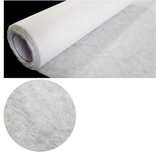 Korean Traditional Mulberry Paper HanJi Roll Mulberry Tree Fiber Plus Abaca Fiber White 49.6'' x 787.4'' by NaRaOn HanJi
