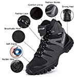 ziitop Chaussures de Randonnée Homme Bottes Tactiques pour Hommes Chaussures de randonnée et de Trekking à Taille Haute… 7