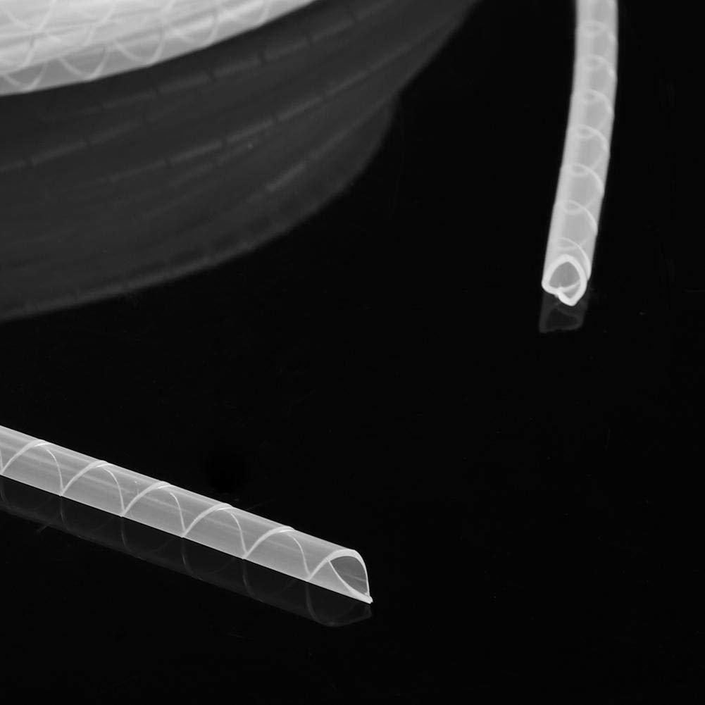 FTVOGUE Organizzatore di avvolgicavo avvolgicavo a Spirale Flessibile Bianco Manicotto della Custodia in Cordino per Home Office 6mm