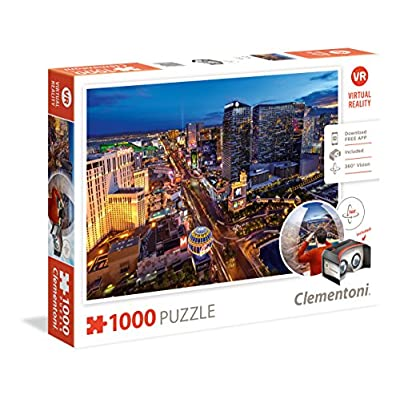 Clementoni 39404 Puzzle 1000 Virtual Reality Las Vegas