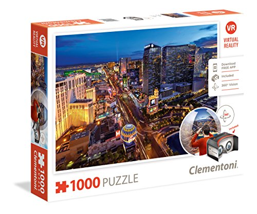 Clementoni - 39404 - Virtual Reality Puzzle - Las Vegas - 1000 Pieces