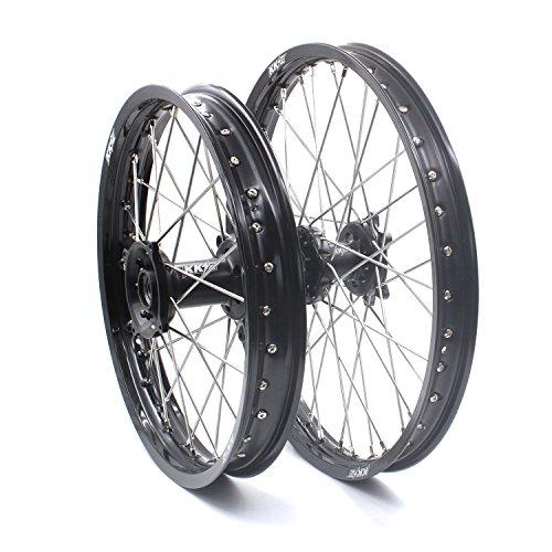 KKE HONDA MX CNC Wheel 21/19 CRF450R 02-12 CRF250R 04-13 Black Hub by KKE (Image #1)
