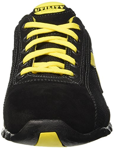 Diadora Glove Ii Text S1p Hro, Zapatos de Trabajo Unisex Adulto, Moon Rock Grey, Media Negro (Nero)
