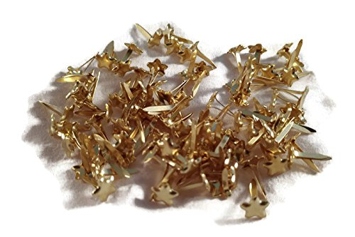 CREATIVE IMPRESSIONS Mini Brads - Metallic Gold Stars - 100ct