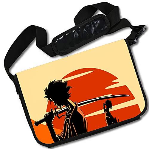 ROUNDMEUP Samurai Champloo Anime Stylish Messenger Bag/Lap Top Bag (15 x 11) Inches [MB] Samurai Cham-9