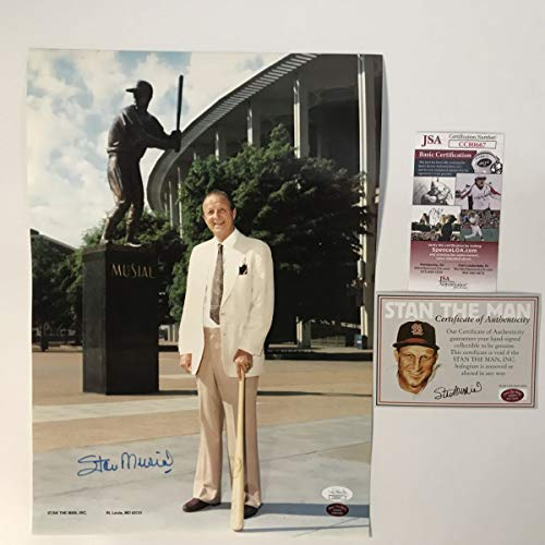 - Autographed/Signed Stan Musial St. Louis Cardinals 11x15 Baseball Photo JSA COA