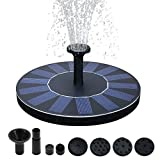 Kyerivs Birdbath Solar Fountain Pump 1.5W Circle Garden Upgraded Floating Fountain Pump for Birdbaths and Ponds