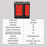 KKmoon NF-469L Network Cable Tester RJ45 RJ11 Tester for Ethernet LAN Cable Landline Phone Wire Testing Tool