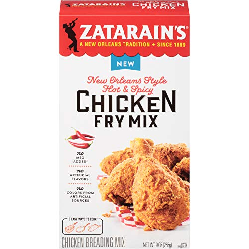 Zatarain's New Orleans Style Hot & Spicy Chicken Fry Mix, 9 Ounce (Pack of 8)