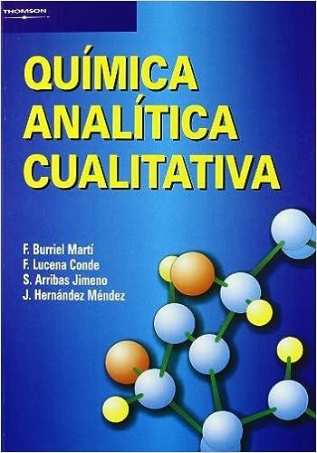 Química analítica cualitativa: Amazon.es: S. ARRIBAS JIMENO ...