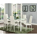Amazoncom White Table Chair Sets Kitchen Dining Room
