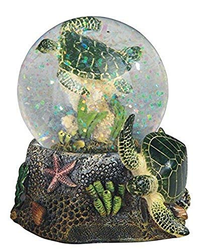 StealStreet 3.75 Inch Marine Life Snow Globe with Sea Turtle Statue Figurine Collectible, 3.75