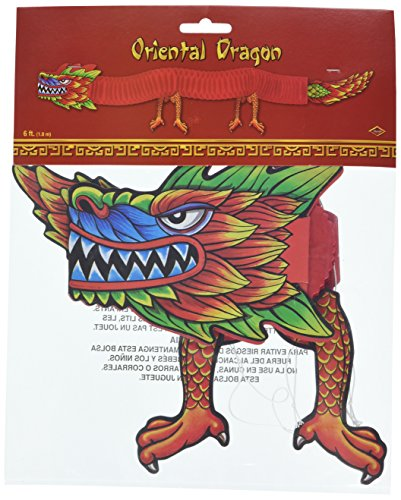 [Asian Tissue Dragon Party Accessory (1 count) (1/Pkg)] (New Years Costumes)