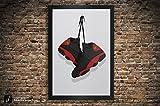 Air Jordan 13 'Bred', 'He Got Game', 'Playoffs' Illustration, Vintage Hanging Kicks - Sneaker Wall Art - 11' x 14', 13' x 19', 18' x 24', 24' x 36'