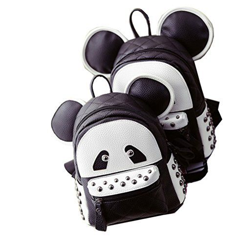 Dos Ensemble Rivet À Pu Et Yan enfant Parent Show Panda Blanc Noir Bandoulière Sac Femmes 8qxz1fwC