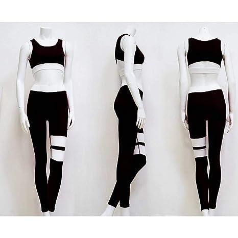 CYJJJK Pantalones de yoga Mujeres Chándal Sólido Conjunto de ...