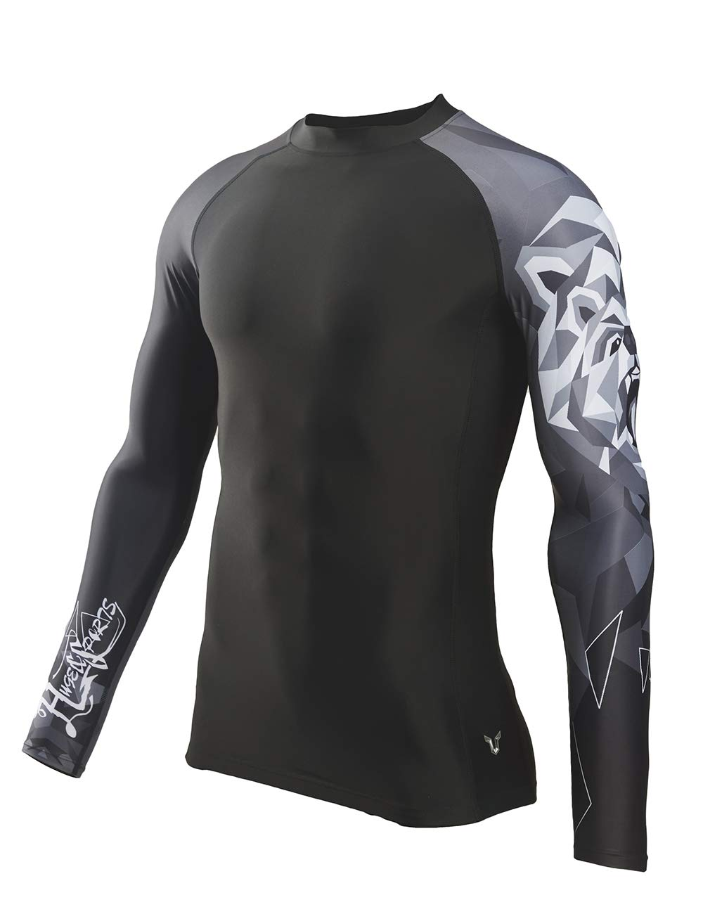 HUGE SPORTS Wildling Series UV Protection Quick Dry Compression Rash Guard(Bear,XL) by HUGE SPORTS