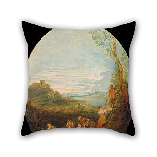 [Oil Painting Jean-Baptiste Pater - Springtime Throw Pillow Case 18 X 18 Inches / 45 By 45 Cm Gift Or Decor For Her,divan,dinning Room,gril Friend,family,son - Two] (Father Son Star Wars Costumes)