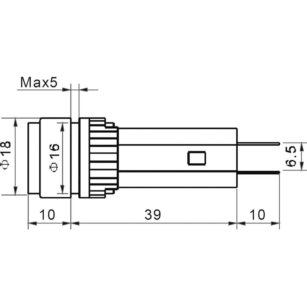 TRU COMPONENTS LED-SIGNALL 230V GR/ÜN AD16-16B//230V//G