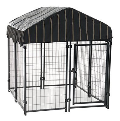 Lucky Dog Heavy Duty Dog Cage Outdoor Pet Playpen   This Pet Cage Is Perfect For Containing Small Dogs And Animals  Included Is A Roof And Water Resistant Cover  4 W X 4 L X 4 4 H