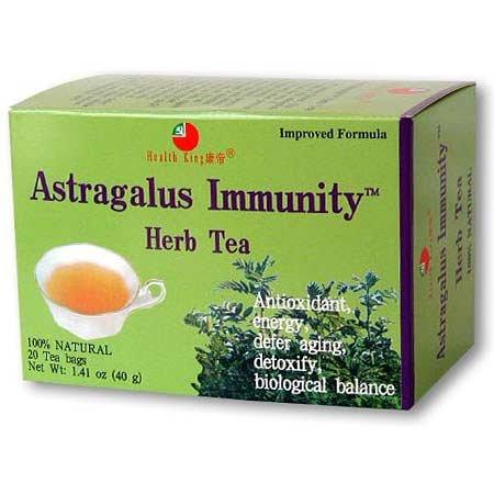 (Health King Astragalus Immunity Herb Tea, Teabags, 20 Count Box)