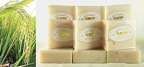12 Bars - Pure Milky Jasmine Rice Soap Acne Freckles Dark Spots K. Brothers 60g