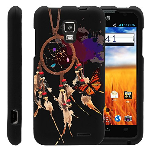 MINITURTLE, Slim Fit Graphic Design Image 2 Piece Snap On Protector Hard Phone Case Cover, Stylus Pen, and Clear Screen Protector Film for AT&T Prepaid GoPhone Android Smartphone ZTE Mustang Z998 (Catch a Dream)