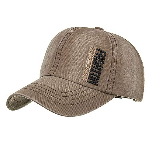 (2019 New Baseball Golf Cap Women Men Adjustable Applique Letter Number Embroidery Outdoors Sports Travel Hat by Fulijie Coffee)
