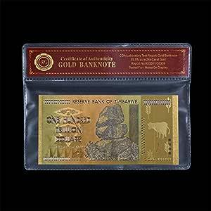 colorised 99,9 24 K chapado en oro Zimbabwe 100 billones
