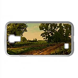 Dirt Road Watercolor style Cover Samsung Galaxy S4 I9500 Case (Landscape Watercolor style Cover Samsung Galaxy S4 I9500 Case)