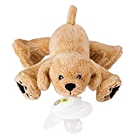 Nookums Paci-Plushies Retriever Buddies - Pacifier Holder (Plush Toy Includes...