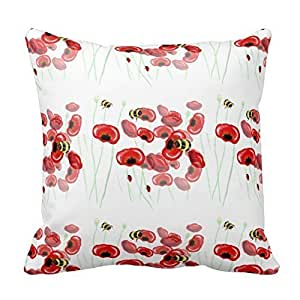 Pillow Perfect 18 X 18 Cotton Stunning Wildflower Nature Art Pillow Covers