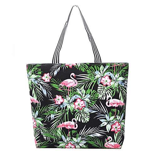 per fiori 43 stile7 design Mogist in fenicotteri la 45cm Style9 tela e Borsa foglie spiaggia q7wxYx0tP