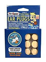Putty Buddies are soft moldable silicone earplugs perfect for swimming and bathing. They are very easy to use and mold to the ear. These Putty Buddies ear plugs are made with our special, patented Flo-Tek silicone formula. They float easily o...
