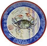 Certified International Blue Crab Round Platter, 14-Inch