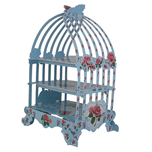 JKLcom Birdcage 3 tier pastry cupcake stand for a Wedding or Tea Party, Wedding-1 Pcs