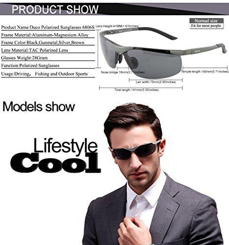 6414e7fef0 Duco Men s Sports Style Polarized Sunglasses Driver Glasses 6806S (Silver Frame  Gray Lens)  Amazon.in  Clothing   Accessories