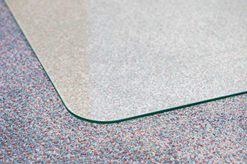 Cleartex Glaciermat, Reinforced Glass Executive Chair Mat for Hard Floors/Carpets, 36'' x 48'' (FC123648EG) by Floortex (Image #4)