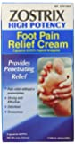 Zostrix High Potency Foot Pain Relief Cream, 2.0 Ounce