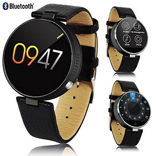 Indigi® 2017 nueva elegante M365 redondo piel Smartwatch ...