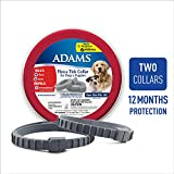 The Adams Flea and Tick Collar for Dogs and Puppies kills adult fleas and ticks AND repels mosquitoes for up to 6 months. Two collars in each tin provide up to 12 months of flea and tick control. The collar features an extended-release techno...