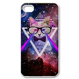 Galaxy Hipster Cat Original New Print DIY Phone Case for Iphone 4,4S,personalized case cover ygtg551264