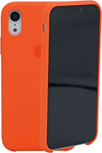 Compatible with iPhone XR Silicone Case 6.1 inch, Liquid Silicone Case Protection Shockproof Protection Anti-Scratch Silicone Phone Case for iPhone XR, Apricot Orange