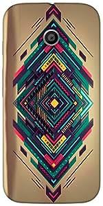 Snoogg Spiral Zoyd Designer Protective Back Case Cover For Moto-E 2Nd Genration